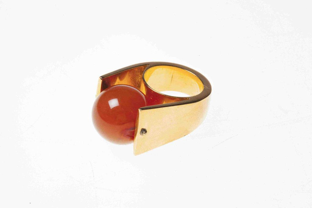 Jasmin Sparrow Wild Child Ring   Gold with Red Agate