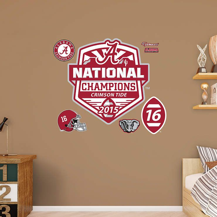 Make Your Fan Cave Complete With A Giant Commemorative Alabama Crimson Tide 2015 National Champions Wall D Crimson Tide Alabama Crimson Tide National Champions