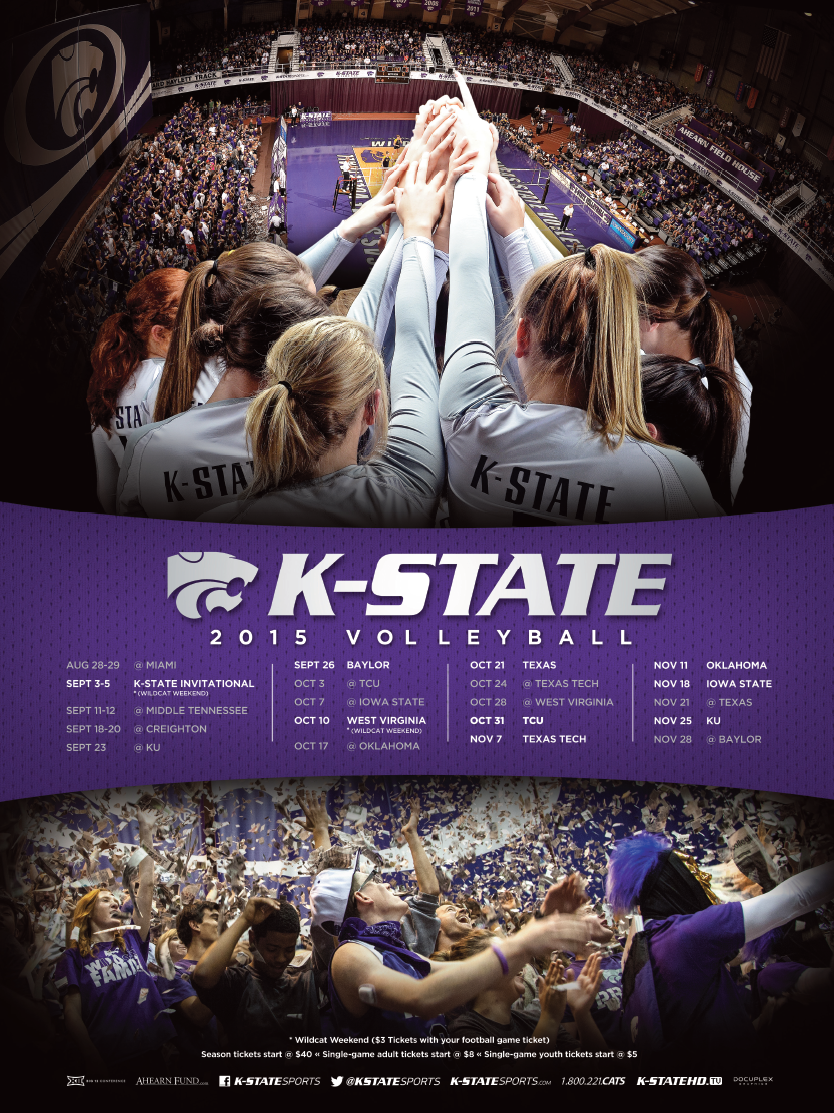 Posterswag Com Top 30 Ncaa Volleyball Schedule Posters Smsports Sportsbiz