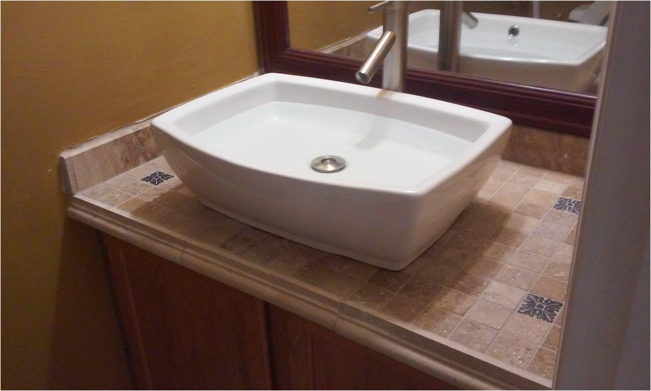 Vanity Top Tiled Mounted Sink You From Bathroom Mount