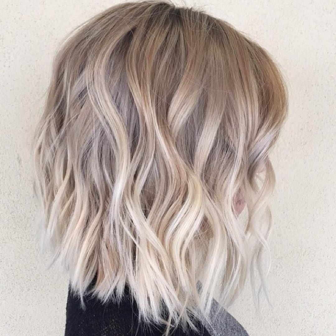 Choppy blunt waves bob ash blonde habit stylist hairby