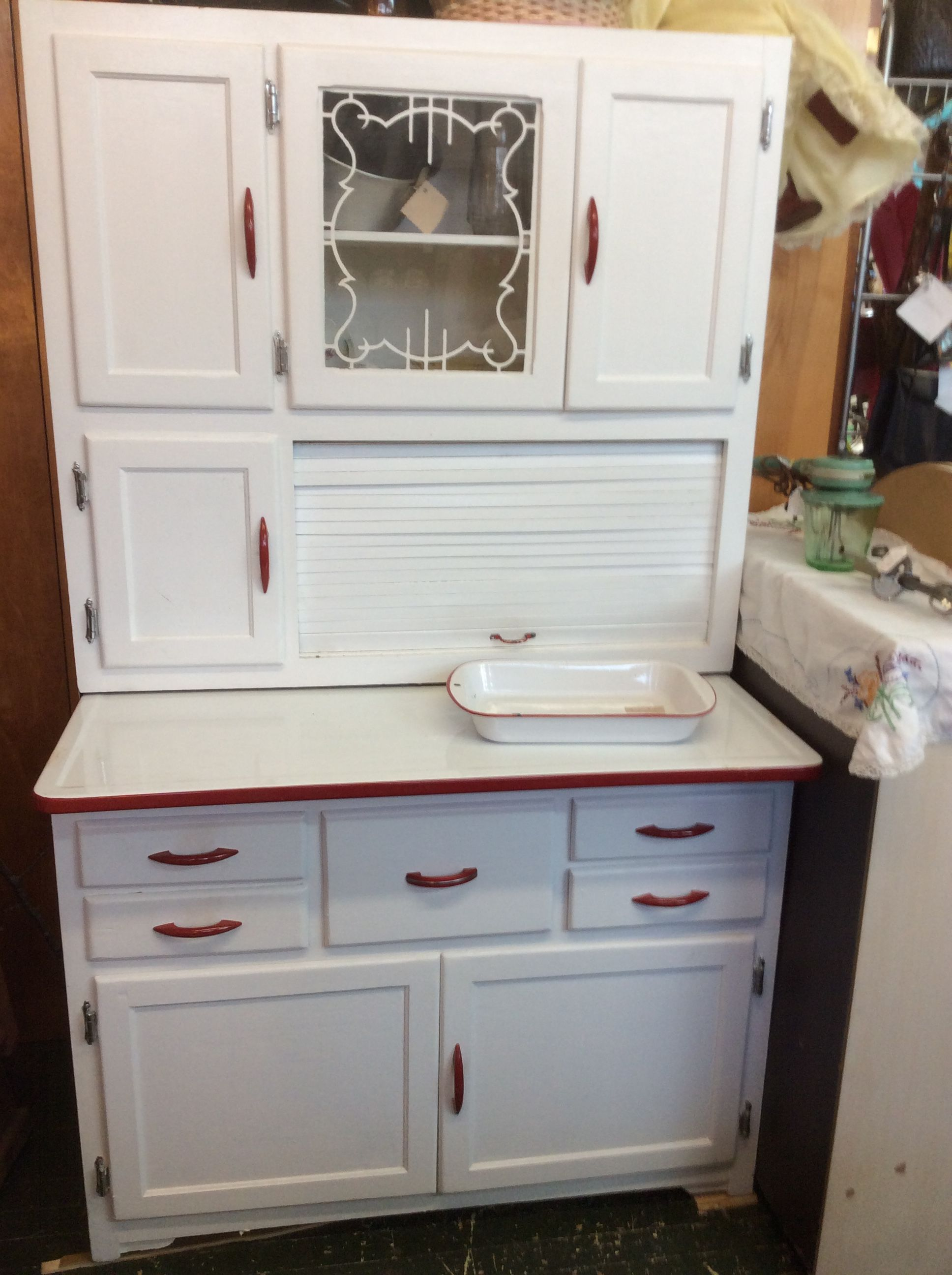 Vintage Marsh Hoosier Cabinet Made In High Point Nc In The 1930 S At Olde Towne Antiques Building Kitchen Cabinets Metal Kitchen Cabinets Kitchen Cabinets