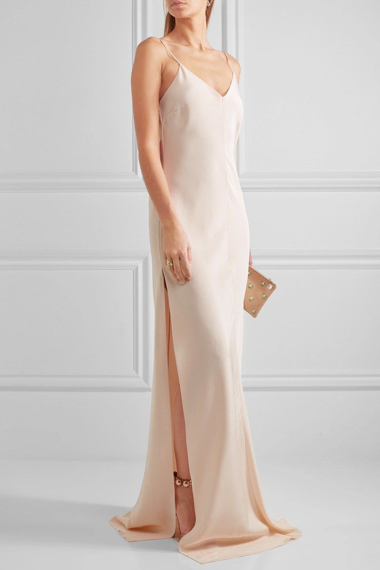 20 Simple And Elegant Wedding Dresses You Can Buy Right Now Silk Dress Long Minimalist Dresses Dresses [ 1151 x 767 Pixel ]