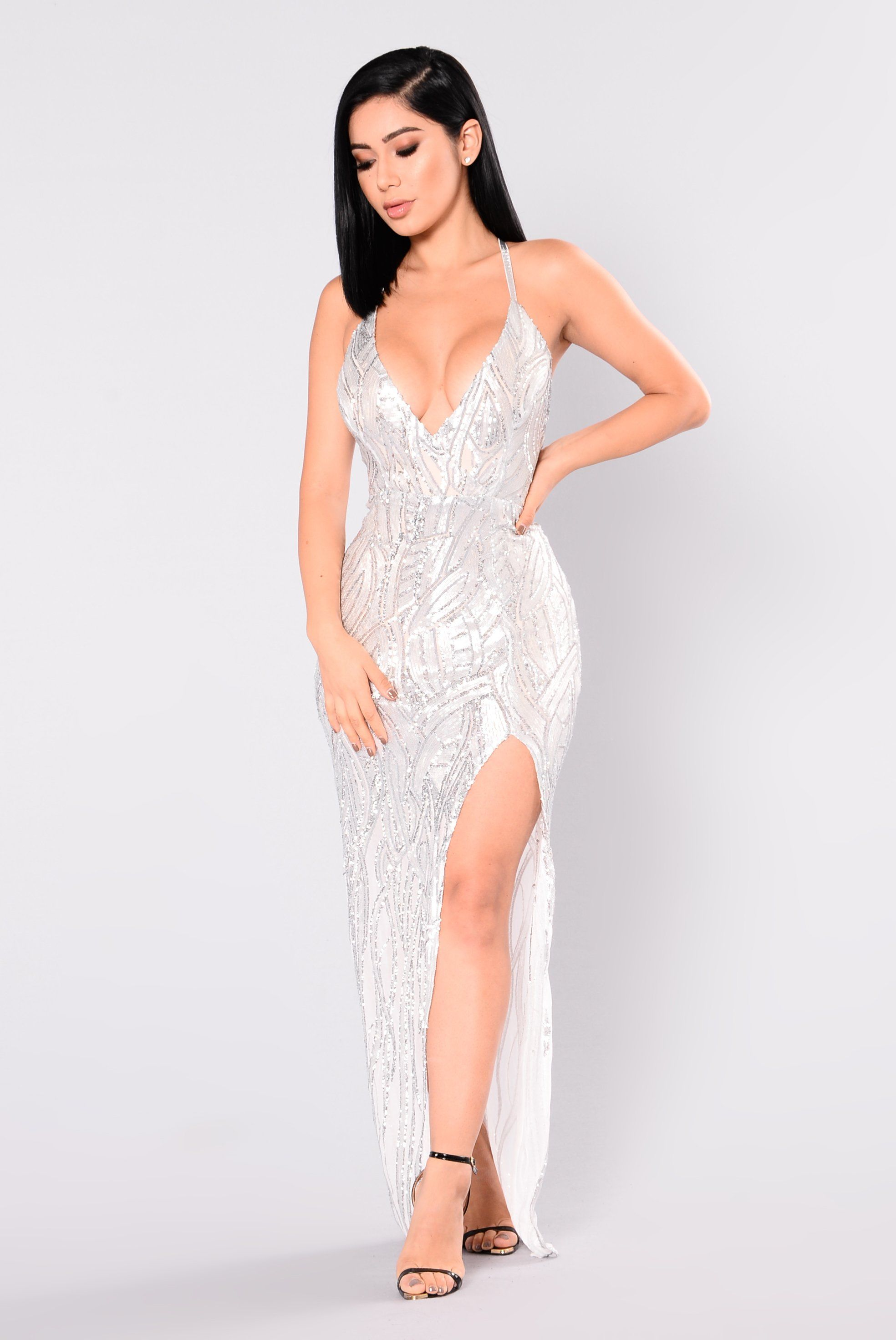 6bcb16caa1018 Living A Dream Sequin Dress - Silver/Nude in 2019 | BDay Ideas ...