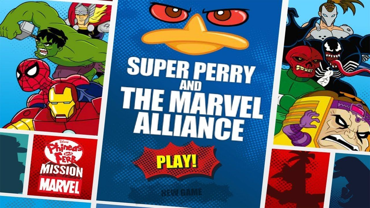 Phineas And Ferb Super Perry And The Marvel Alliance