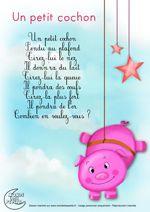 Paroles un petit cochon pendu au plafond comptines et - Un petit cochon pendu au plafond ...