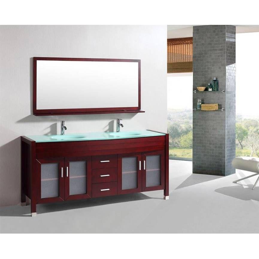 Meuble de salle de bain MATERA , Acajou Chaboueze Pinterest