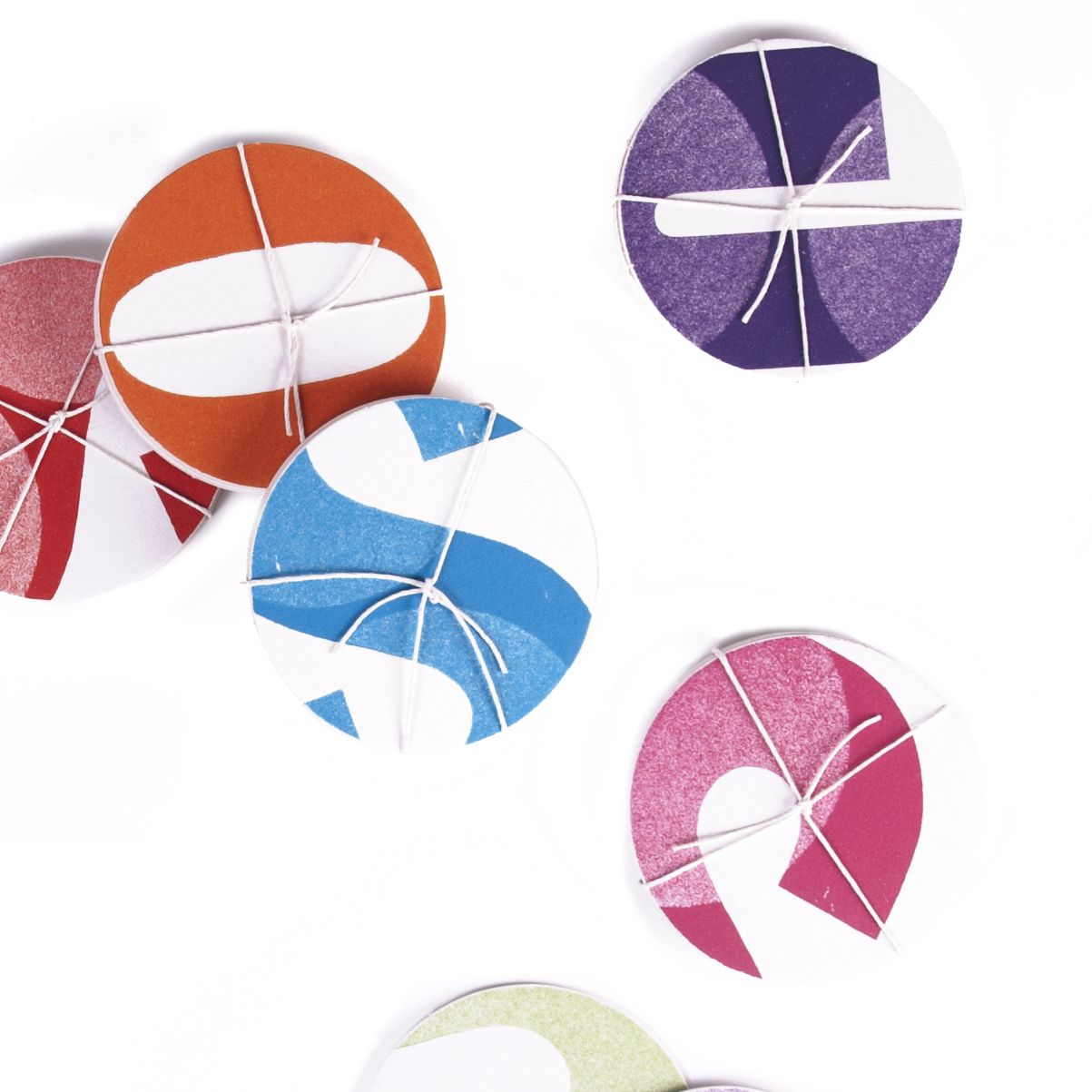Letterpress handmade coasters <3