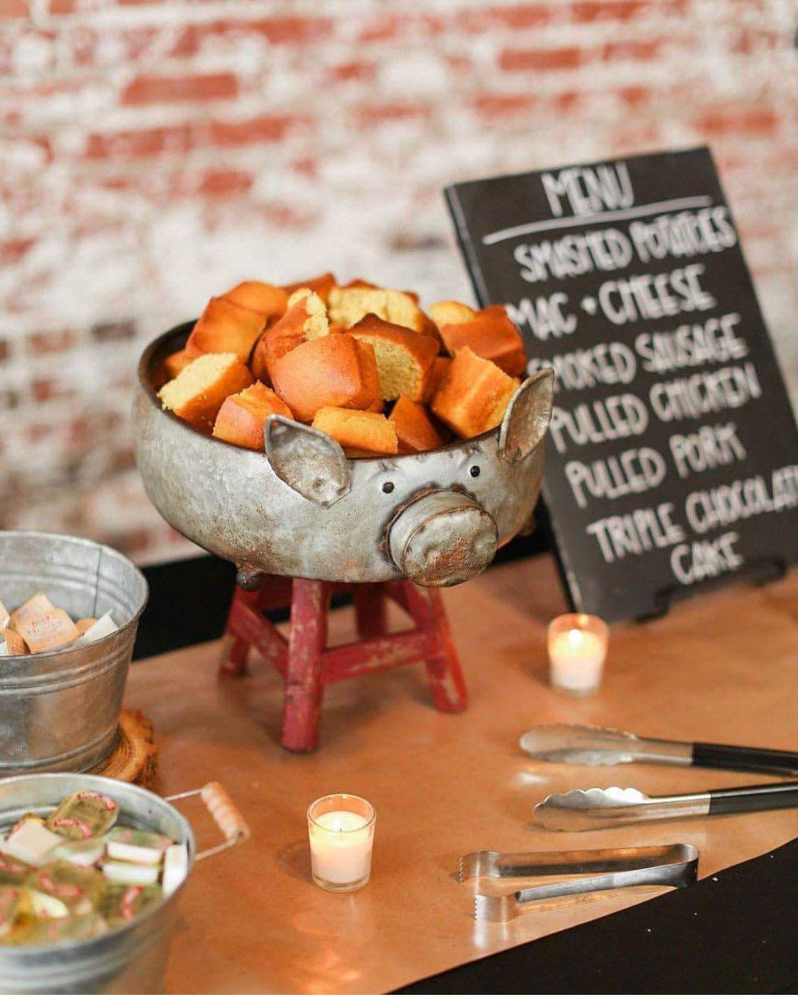 Bbq Wedding Reception Ideas: Cute, Unique, BBQ Set-up For Rustic Barn Wedding In 2019