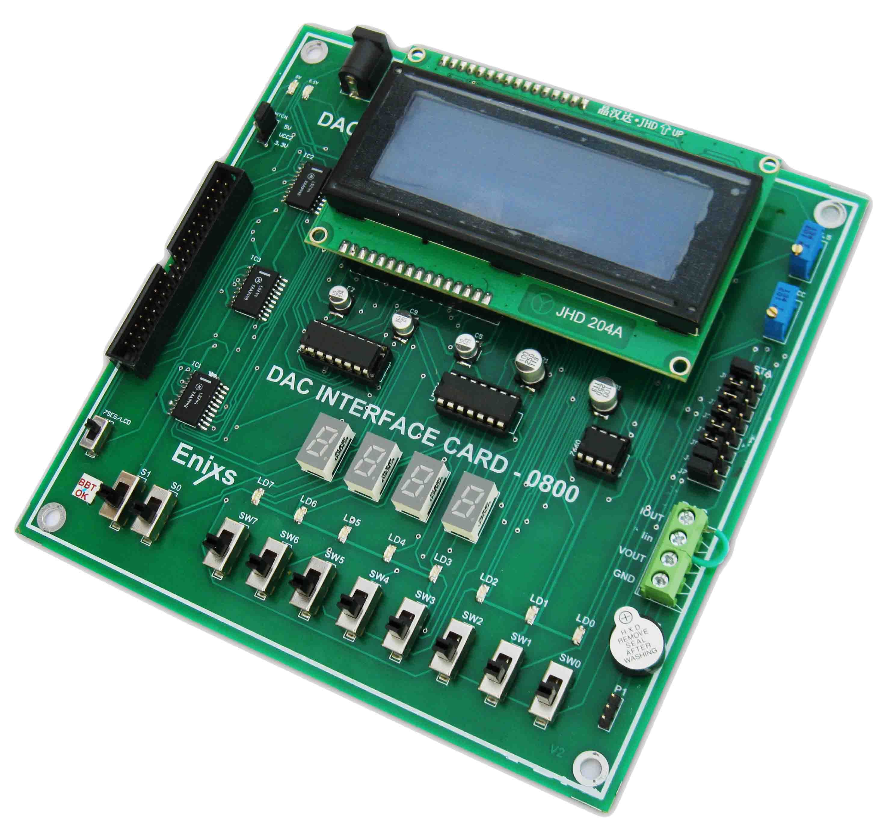 dac0800 interface card the dac interface card is designed to demonstrate the digital to analog conversion using dac 0800 chip  [ 2956 x 2746 Pixel ]