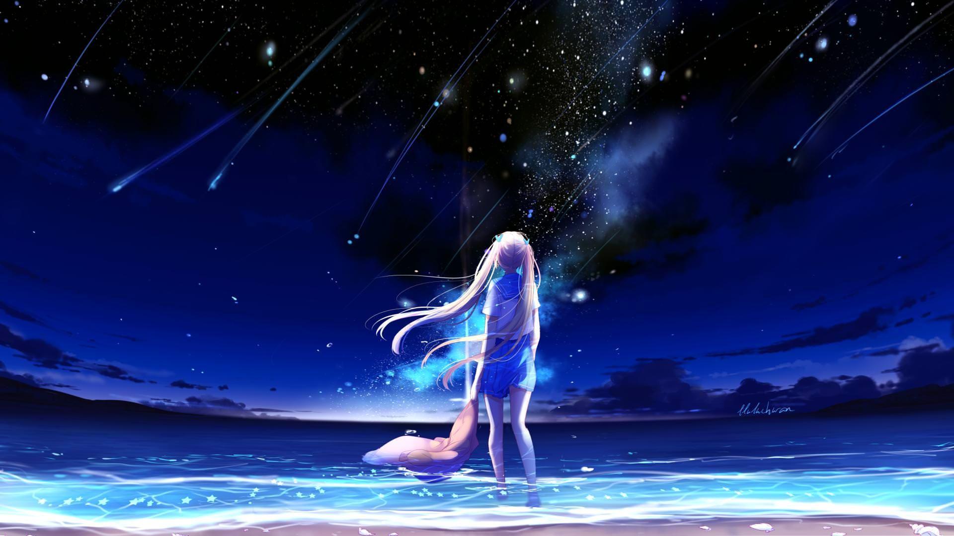 Imgur Com Sky Anime Anime Scenery Anime Wallpaper Galaxy anime wallpaper hd