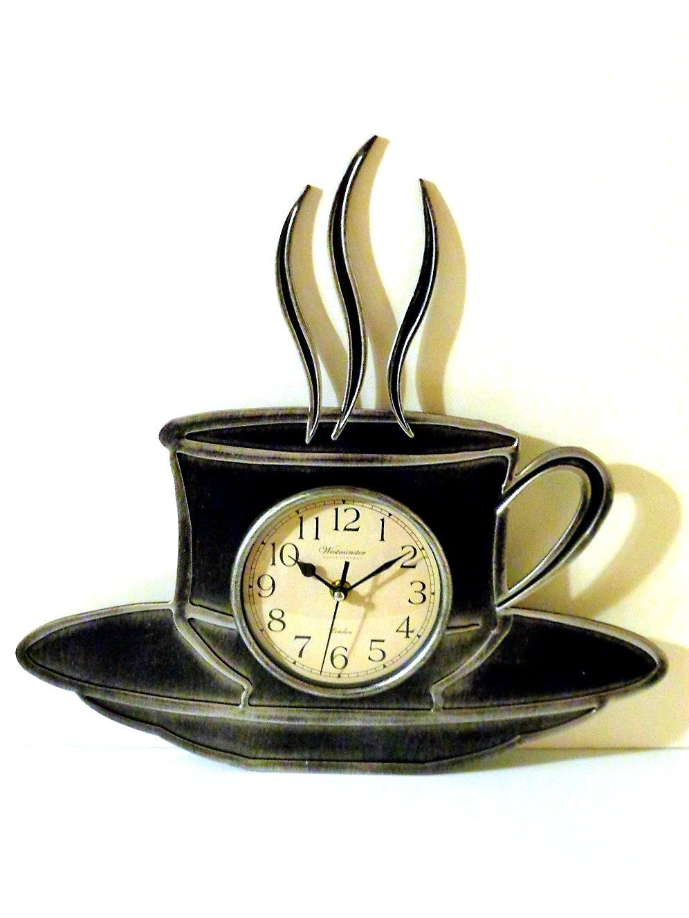 Coffee+Cup+Kitchen+Wall+Clock 15 In. Wall Clock $26.95