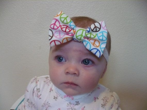 Hair Bow Baby Headband Baby Girl Headband by Goodtreasures123