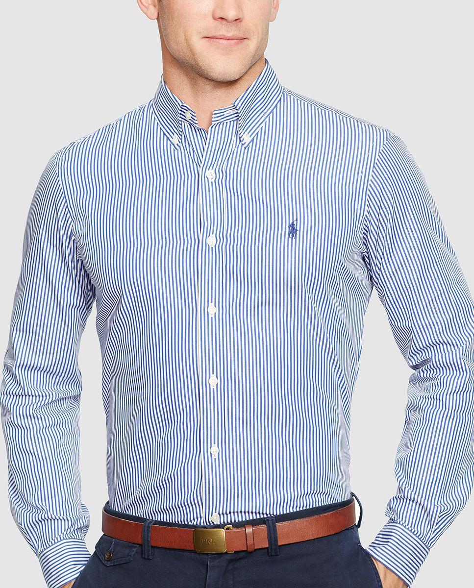 112ea0d50a89e Camisa de hombre de rayas slim azul · Polo Ralph Lauren · Moda · El Corte  Inglés