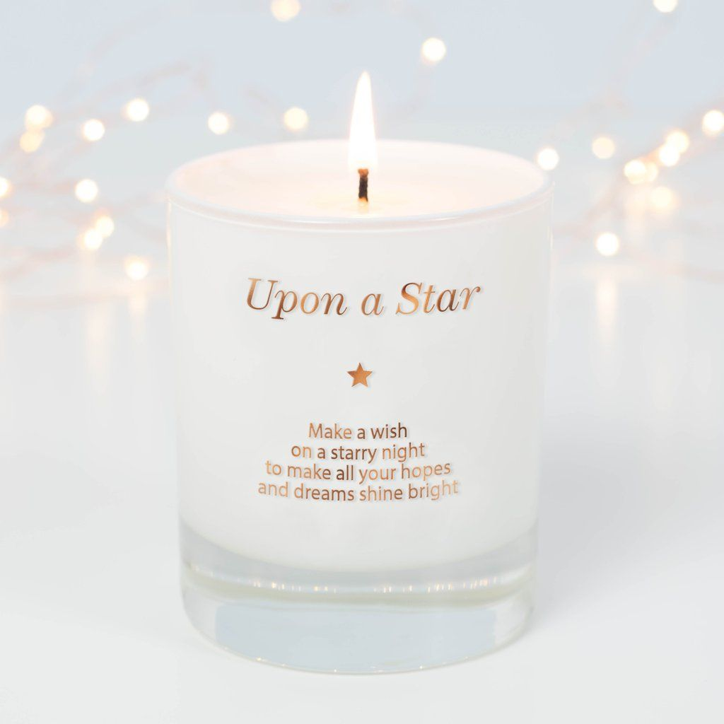 Make a wish upon a star candle remembrance gifts