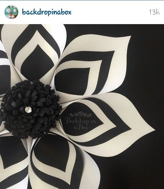 Modern look to paper flowers by Backdropinabox!!!!