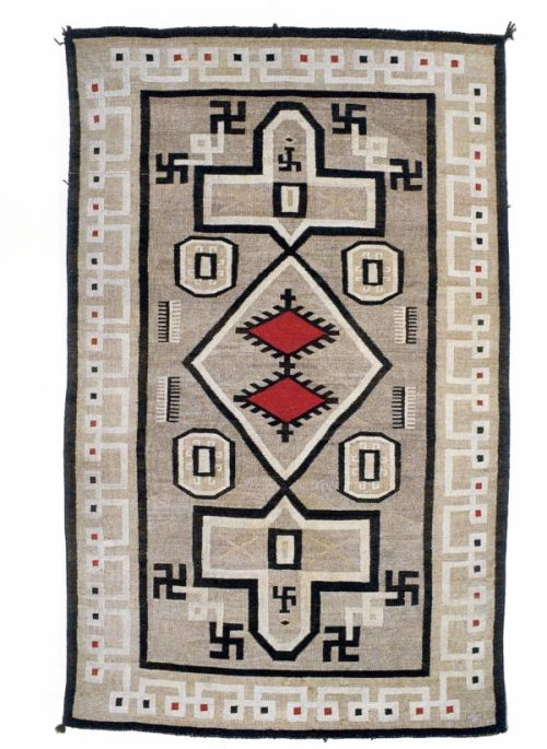 Navajo Whirling Log Rug A Non Nzai Use Of The Swastika