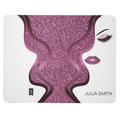 Makeup with glitter effect journal - makeup artist gifts style stylish unique custom stylist