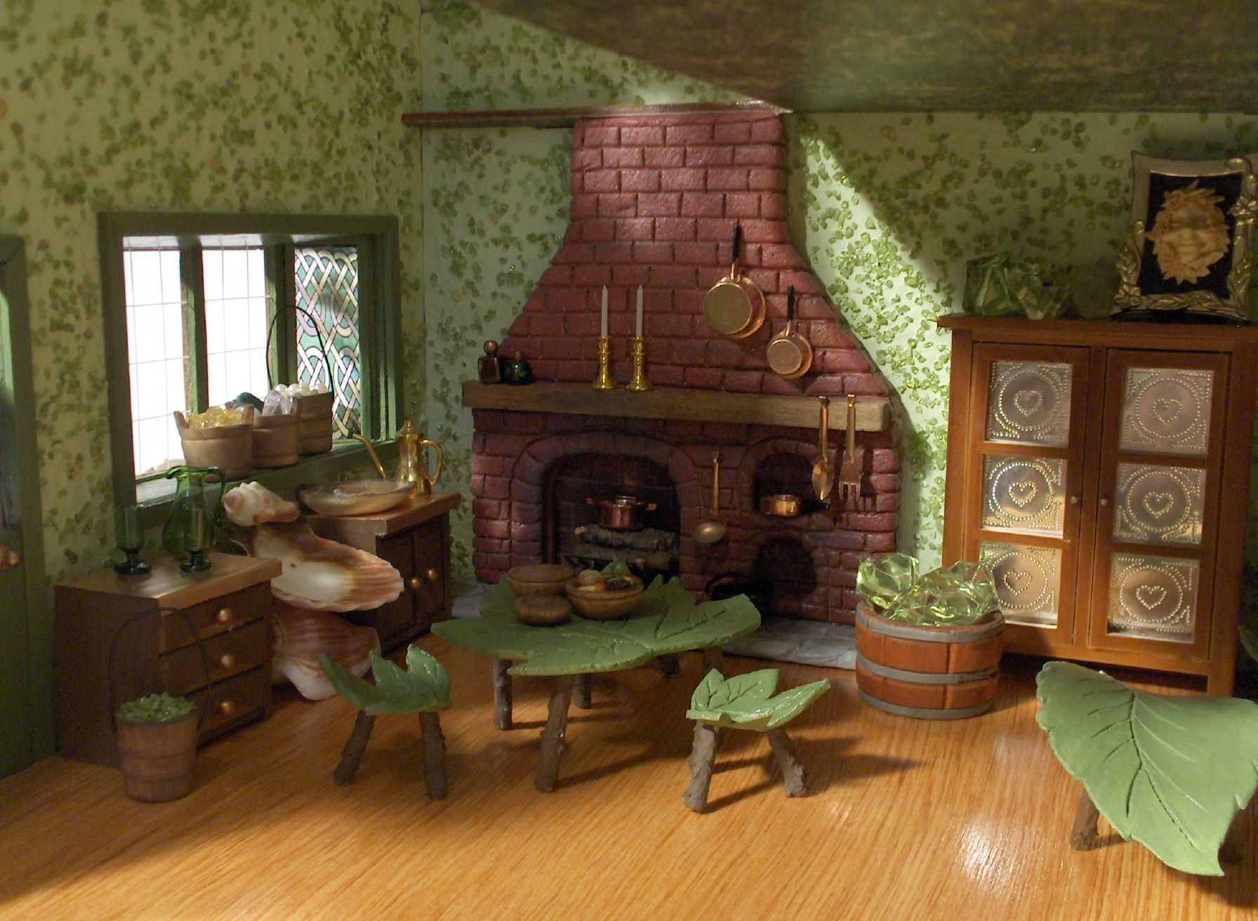 Beautiful Fairy House Furniture Ideas Leaf Furniture Made From Real Leaves Pressed  Into Paperclay, Molded And