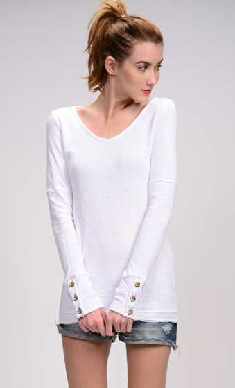 American Able Button Cuff Long Sleeve Shirt for Women Available in Multiple  Colors 4e10fa2f45