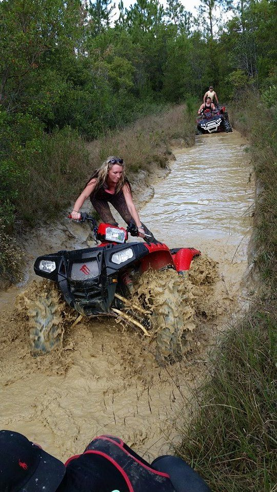 naked girl riding four wheelers