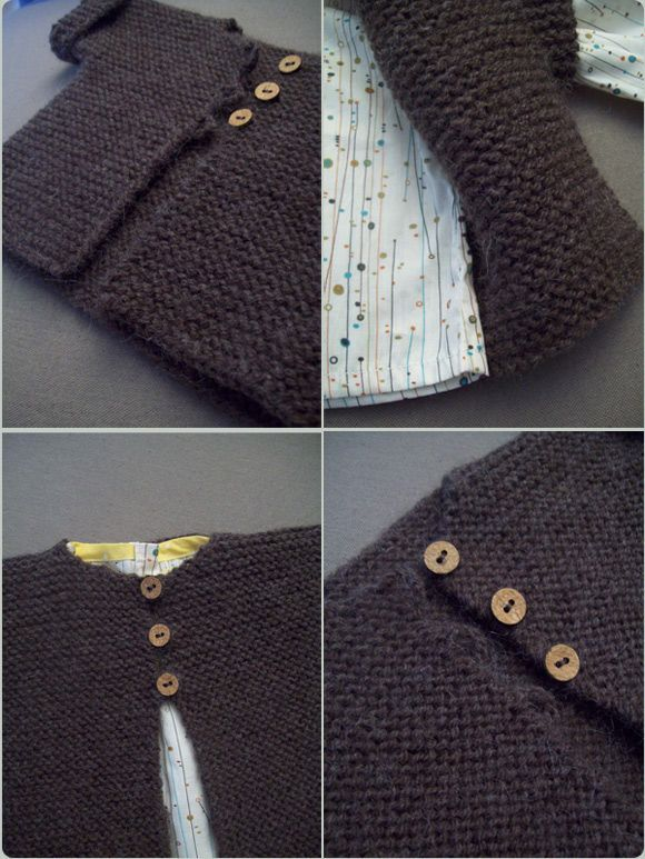 Bien-aimé gilet point mousse 3-6 mois | TRICOT TUTOS | Pinterest | Point  QH55