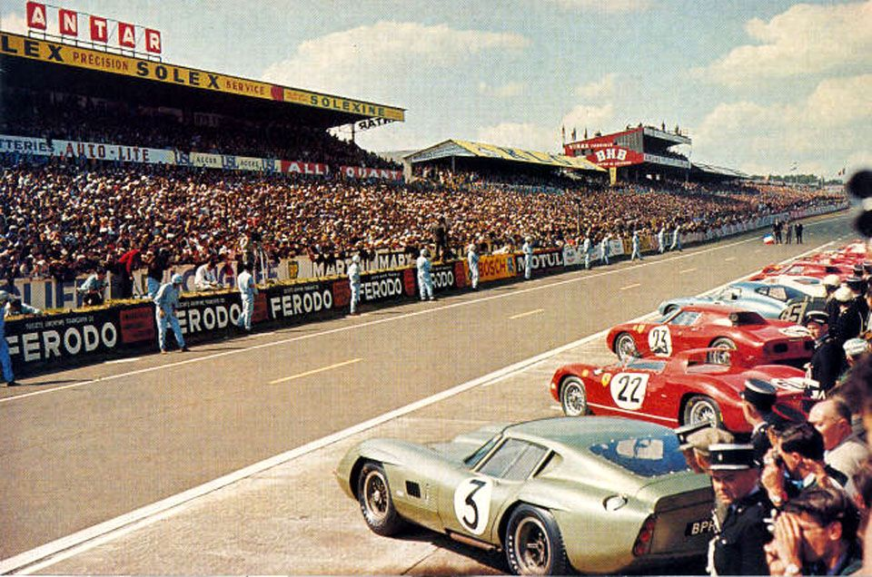 24 Hours Of Lemans 1964 The Turner Ac Cobra Coupe In Front Le