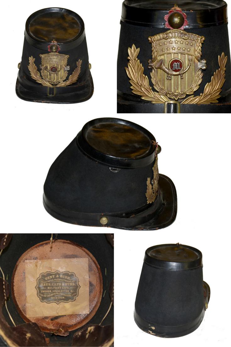 Signal Corps Civil War Navy Hat Insignia