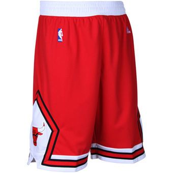 adidas Chicago Bulls Red Swingman Shorts
