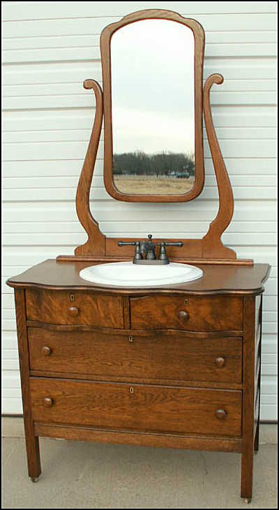 Photo Of Front View  Antique Bathroom Vanity Serpentine Dresser Glamorous Antique Bathroom Vanities 2018