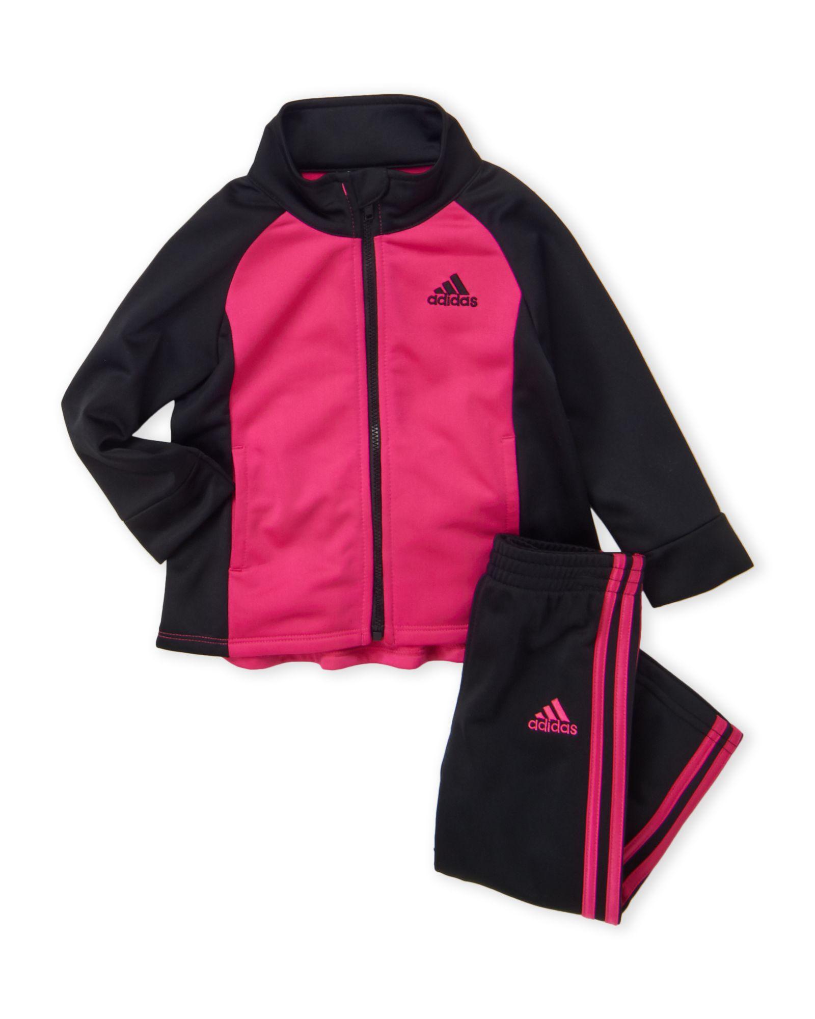 baabd72d6 Adidas (Infant Girls) Two-Piece Track Jacket & Tricot Pants Set ...