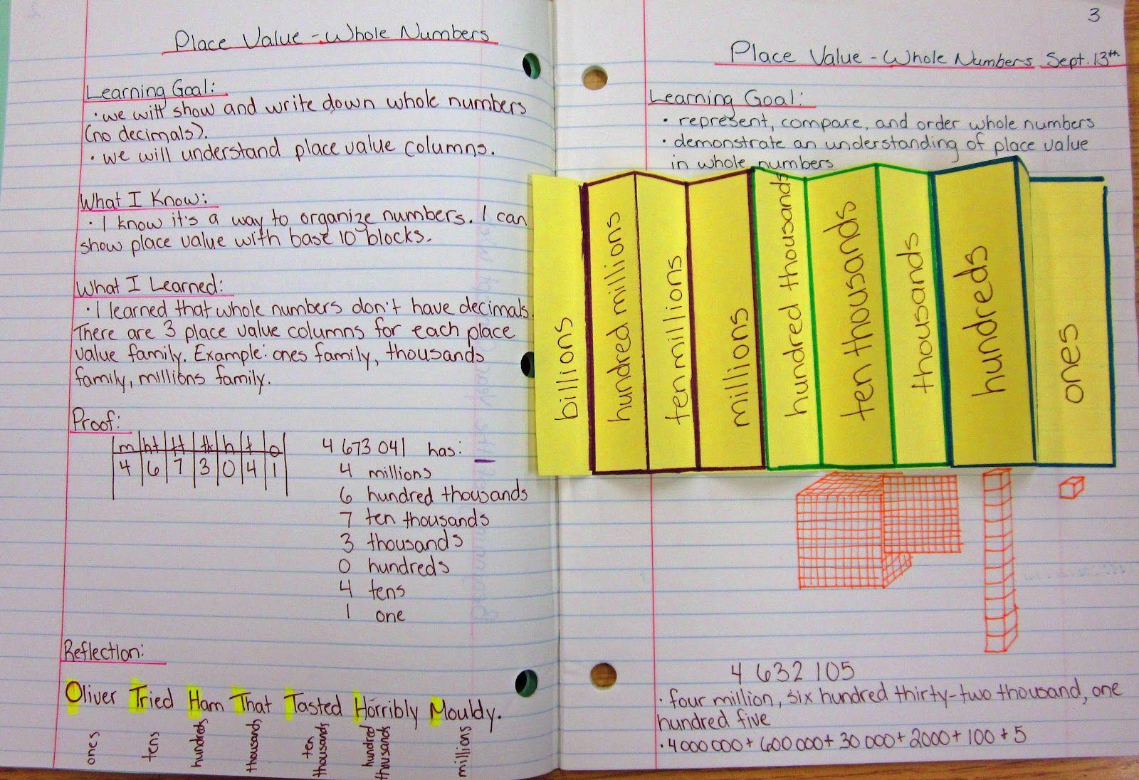 Math Journal Sundays - Place Teaching