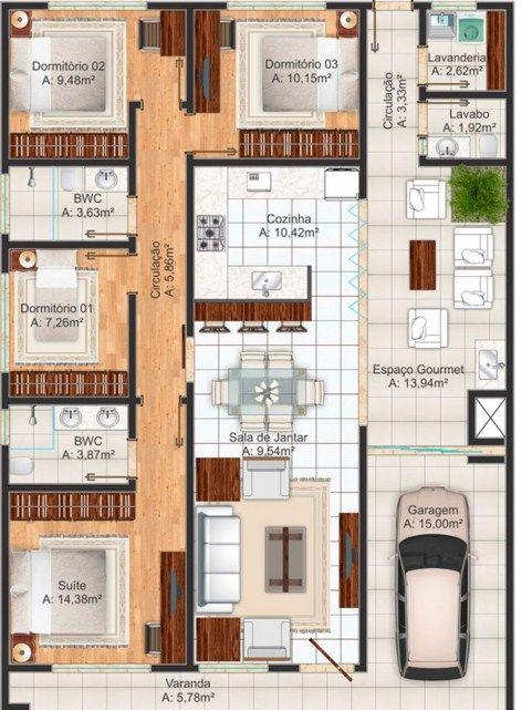 Planos de viviendas gratis con medidas planos para casas for Planos en linea