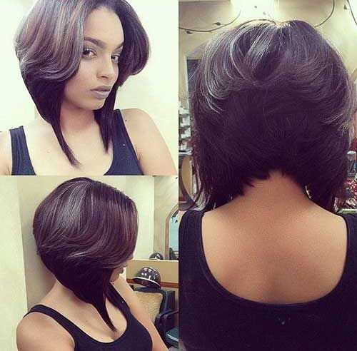 6 Layered Bob Hairstyle For Black Women Picture Relaxed Hair