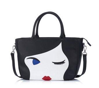 d7c64ccf88f2 Lulu Guinness Lulu Doll Face Large Leather Wanda Cross-body Bag - 163442