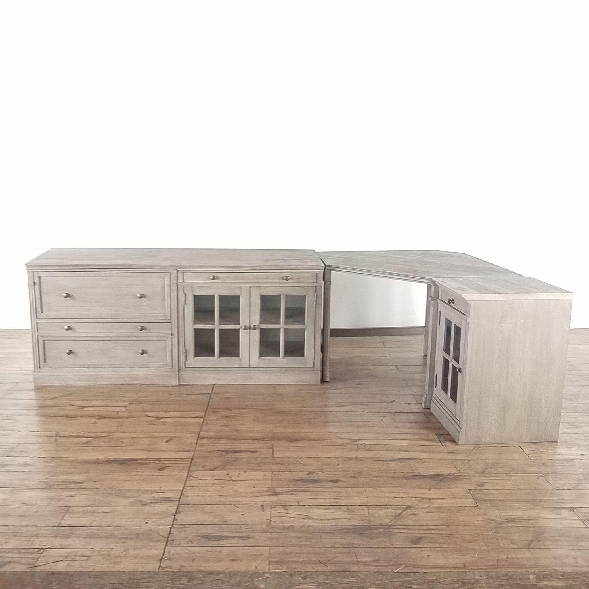 Pottery Barn Livingston Modular Corner Desk Pottery Barn Corner Desk Small Cabinet