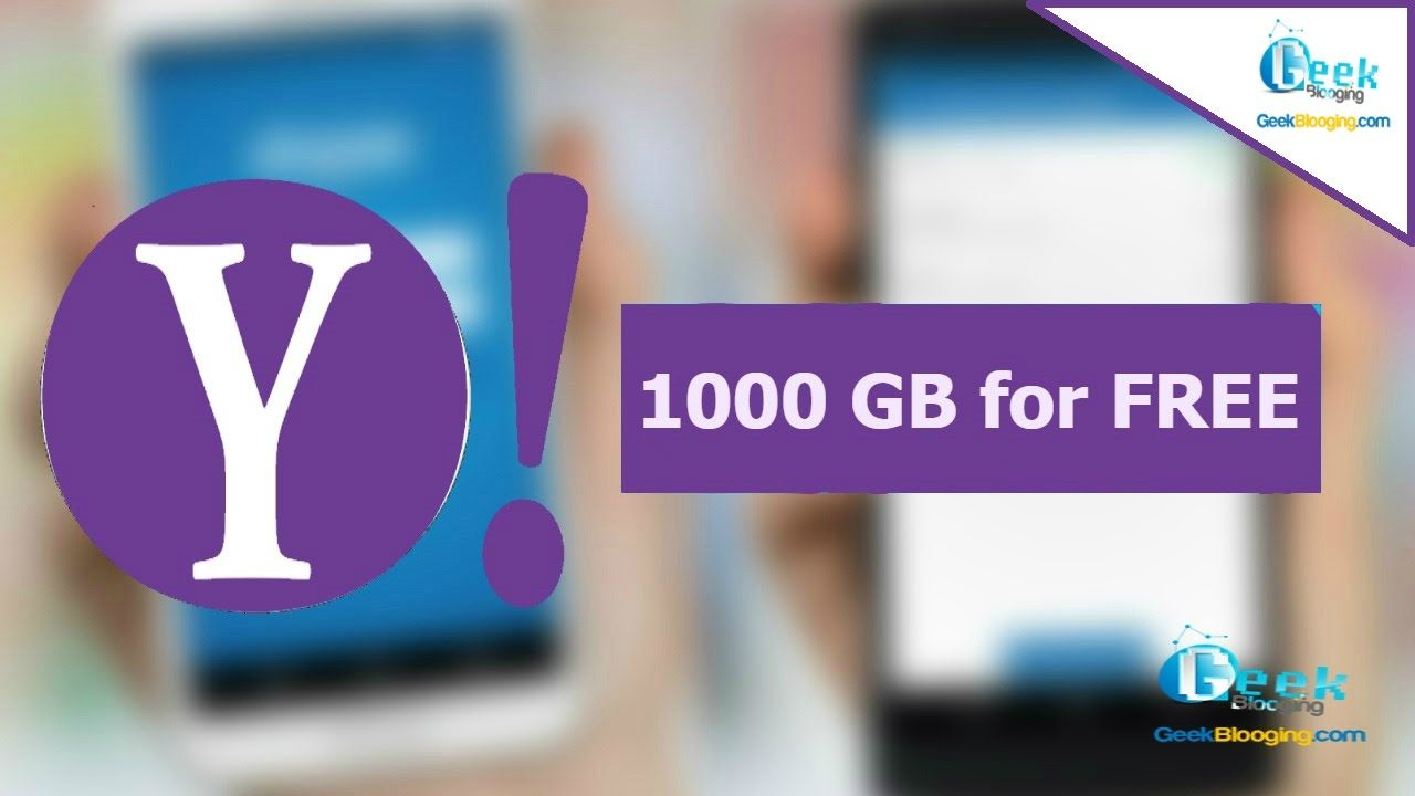 Get 1000 Gb Of Cloud Storage From Yahoo For Free 2019 In 2020 Cloud Storage Clouds Storage