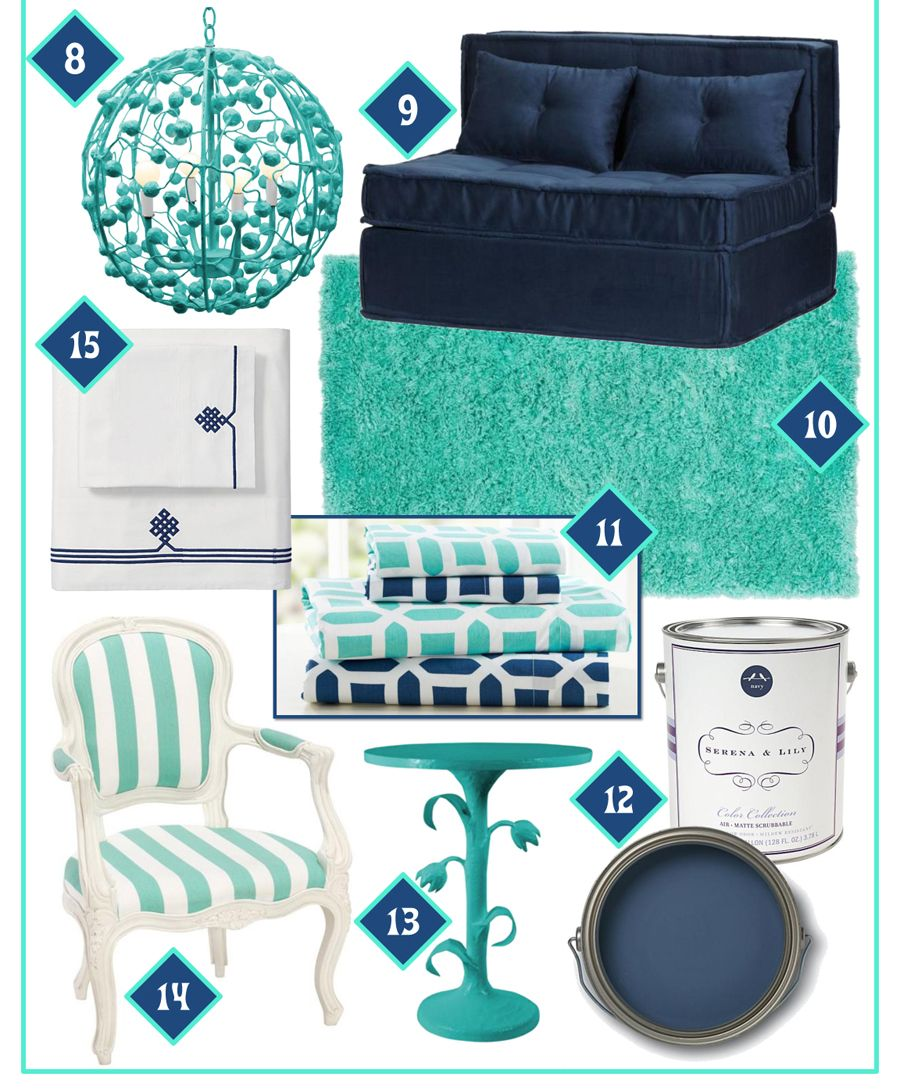 Navy blue and sea blue together randomz turquoise - Navy blue and turquoise living room ...
