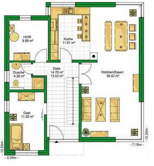 Plano de casa de dos plantas ideas para el hogar - Planos de casas de 2 plantas ...