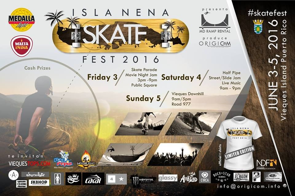 Isla Nena Skate Fest 2016 #sondeaquipr #islanenaskatefest #vieques #deportespr