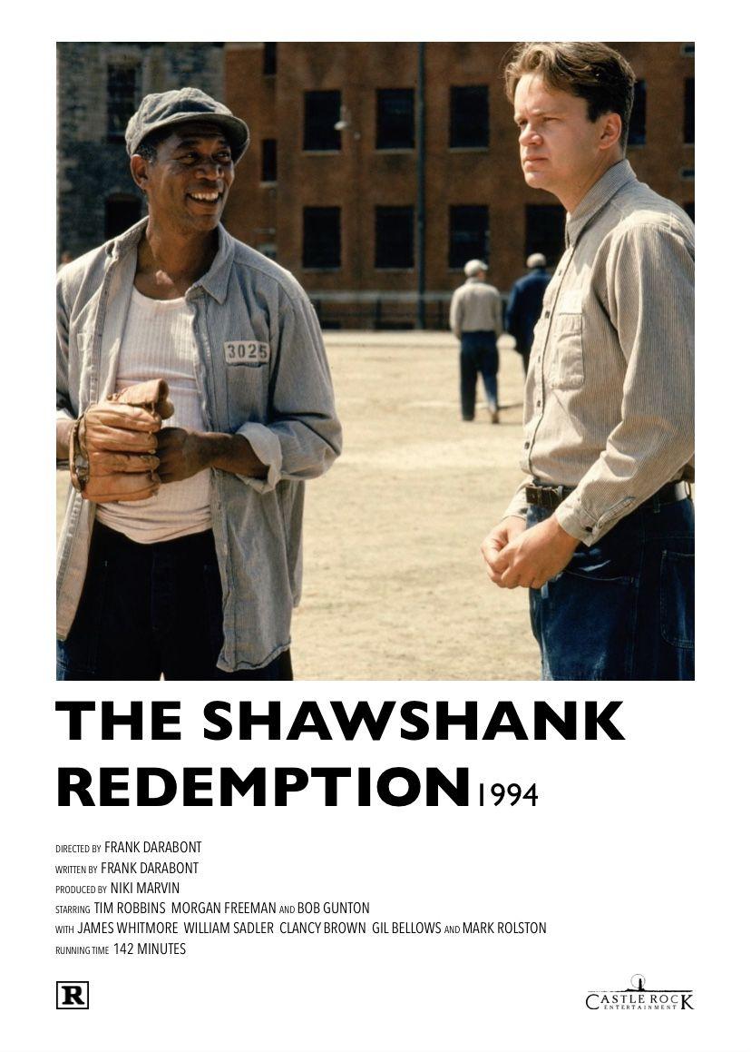 Alternative Film Poster Iconic Movie Posters The Shawshank Redemption Godfather Movie
