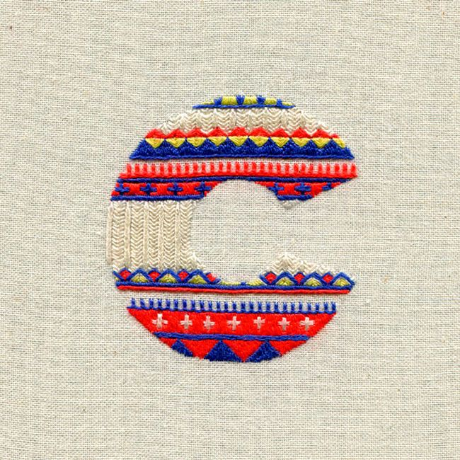 Maricor and Maricar Manalo ~ Stitched Letters: Richly Embroidered Typography