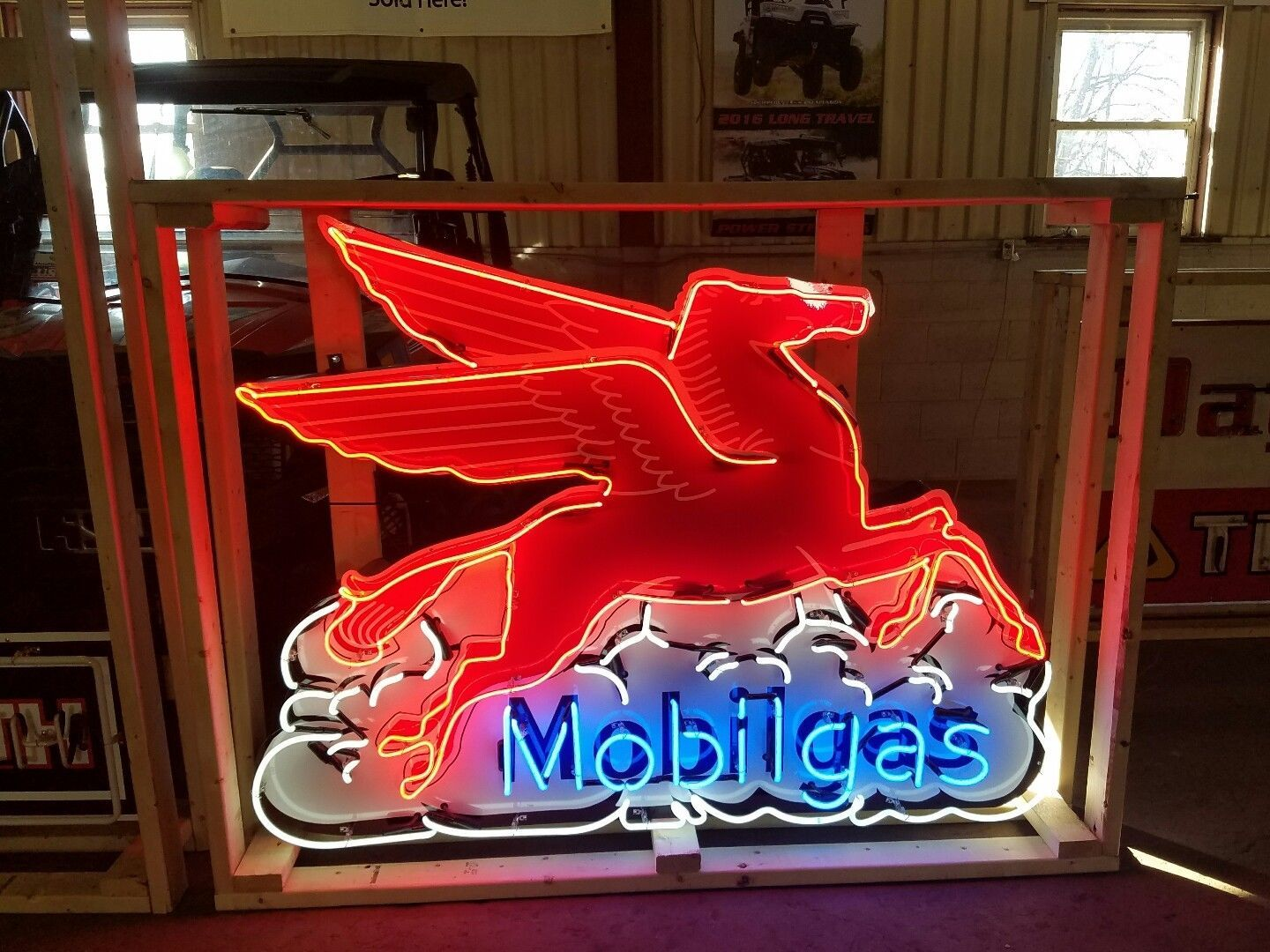 Mobil Pegasus Neon Lighted Sign 5ftx4Ft | eBay