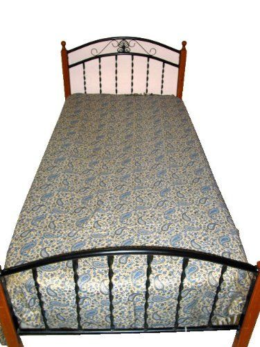Pashmina Blanket Throw Blue Gold Paisley Pashmina Bedspreads
