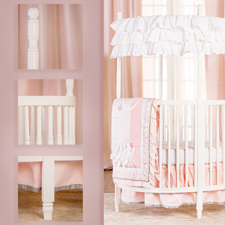 Dream on me sophia posh circular mini crib white