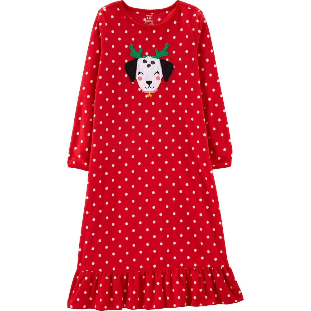 c2e7df742 Girls 4-14 Carter s Christmas Dog Fleece Nightgown