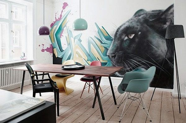 Room   Contemporary Office Room Decorating with Graffiti  Contemporary Office Room Decorating with Graffiti Wall Art   Kunst  . Graffiti Bedroom Decorating Ideas. Home Design Ideas