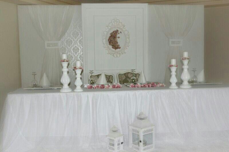 Hochzeitsdeko Landhausstil Rosa