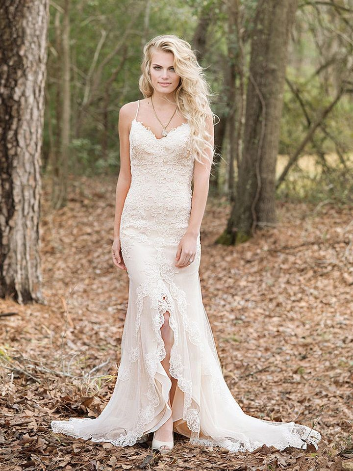 Fit and Flare All-Over Lace Gown | itakeyou.co.uk #weddingdress #weddingdresses
