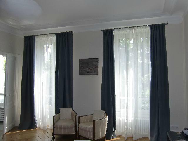 double rideaux et voilages en voile de